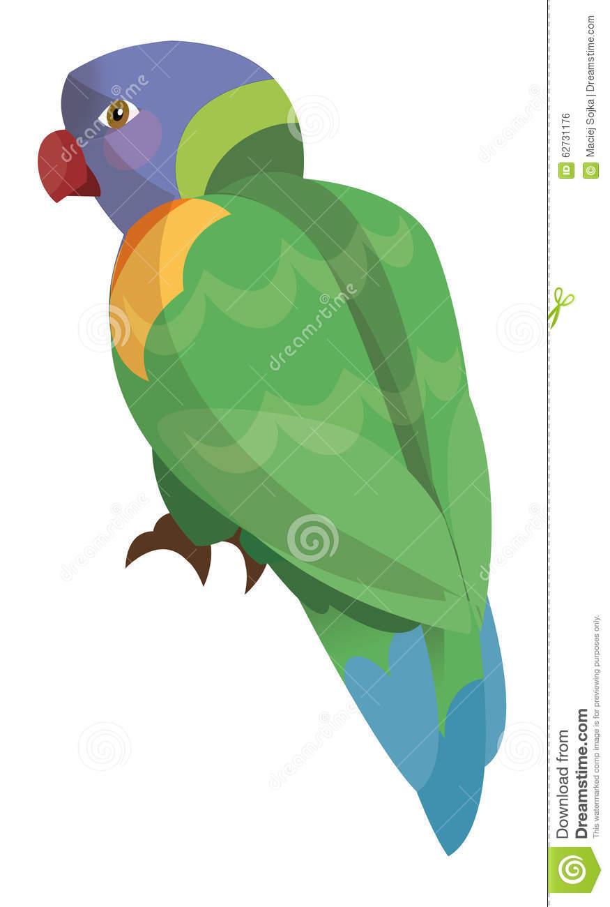 Cartoon Parrot.