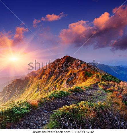 Mountain Sunrise Stock Photos, Royalty.