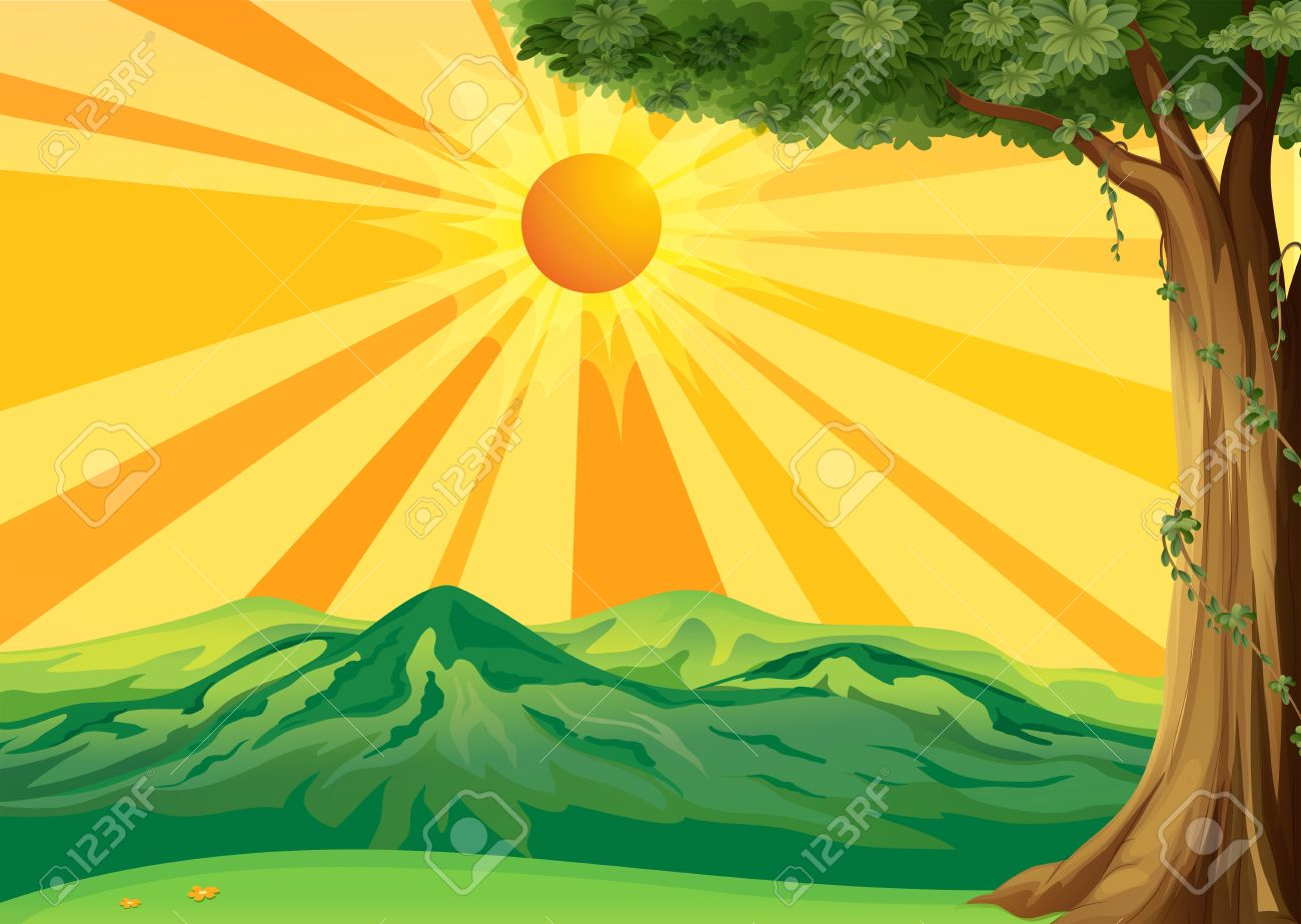 Mountain Sunrise Clipart.
