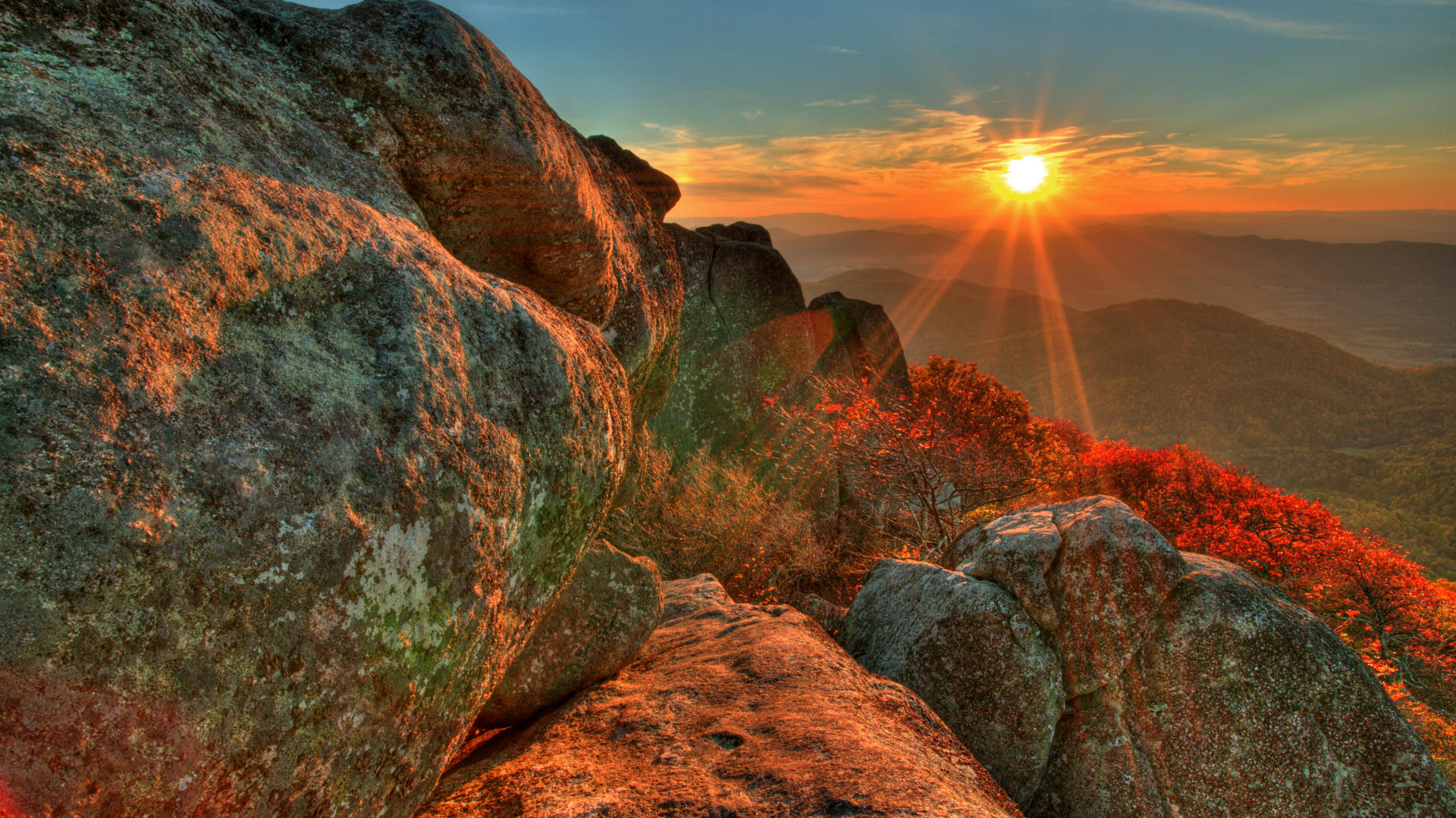 Beautiful Mountain Sunrise Clipart
