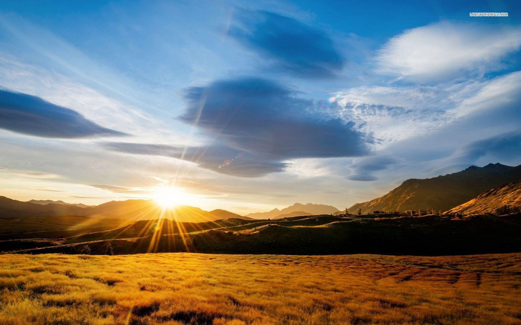Mountain Sunrise Clipart.