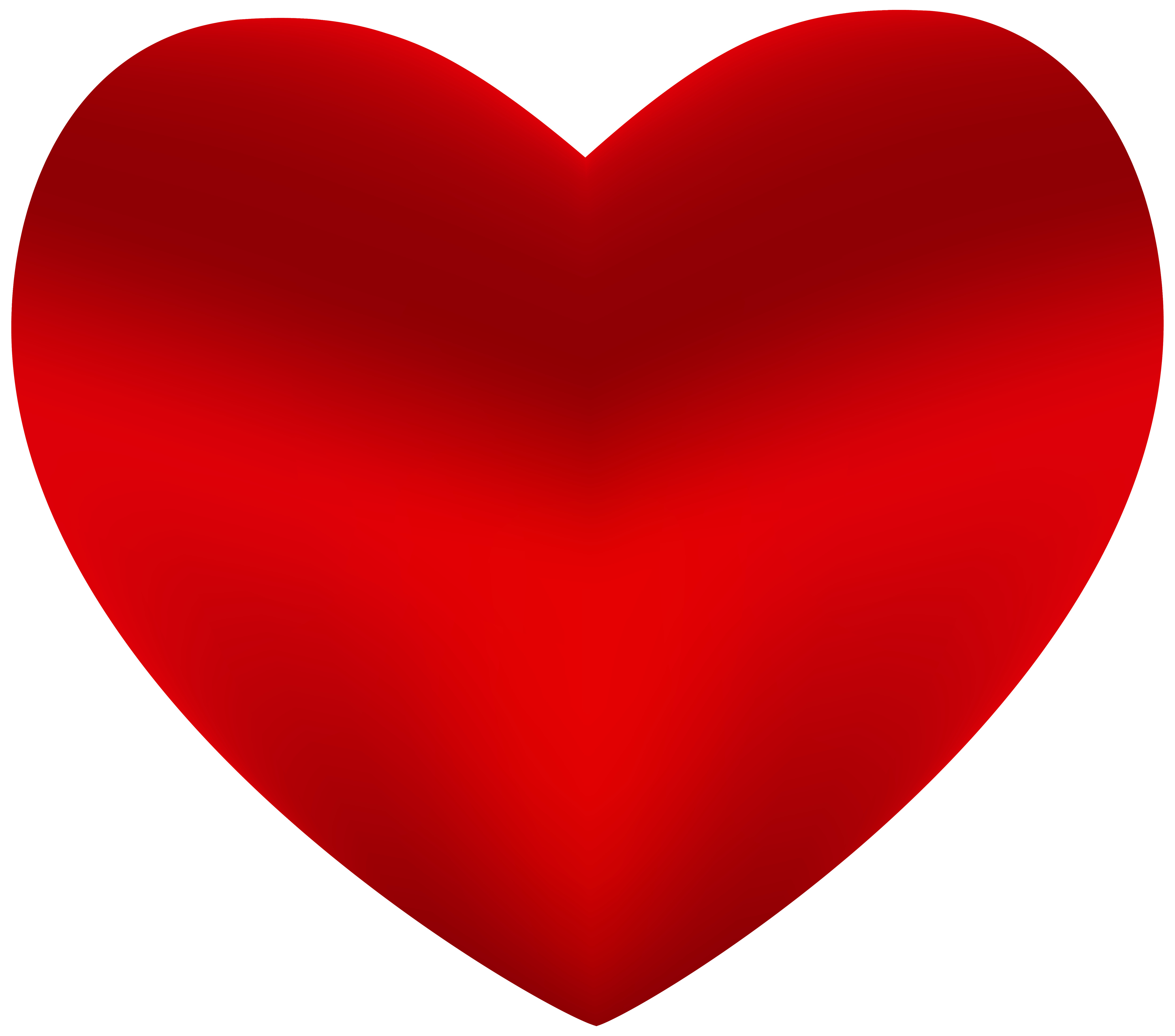Beautiful Red Heart PNG Clipart.