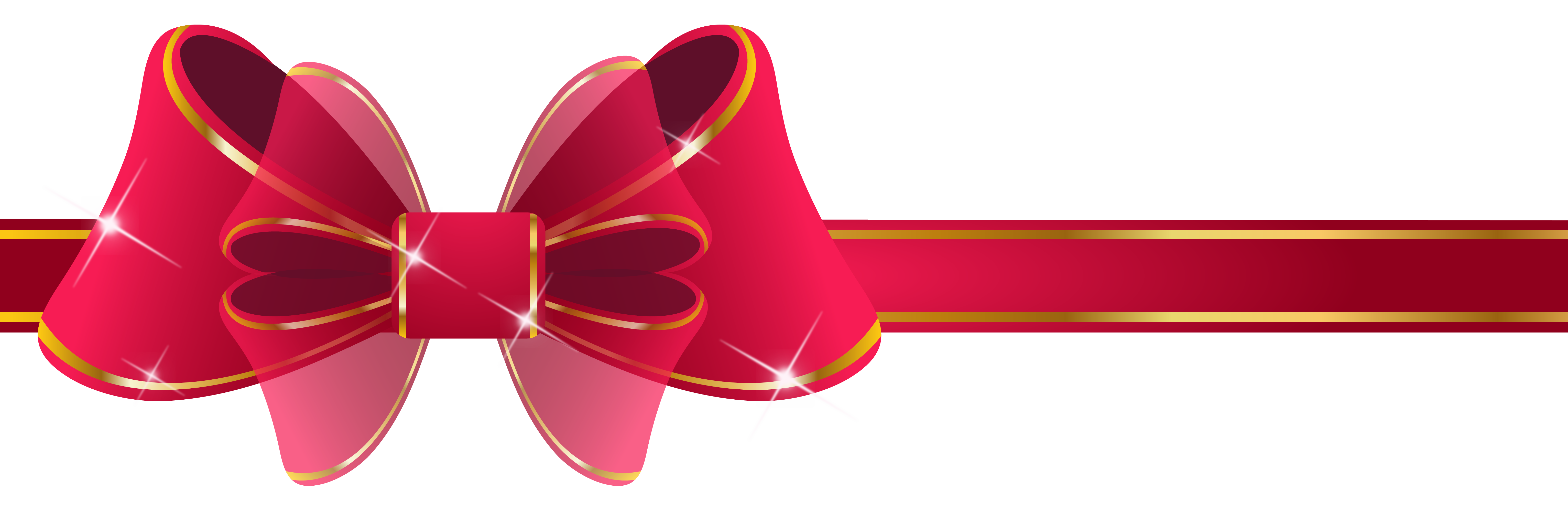Beautiful Red Ribbon PNG Clipart Image.