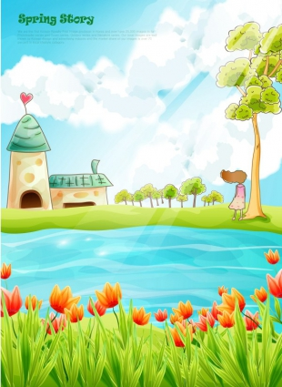 Beautiful scenery clipart free download.