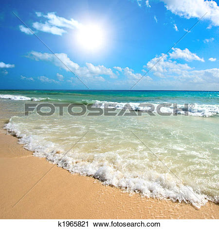 Stock Photography of Beautiful beach and sea k1965821.