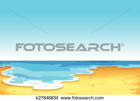 Clipart of Beautiful view of the sea k27846834.