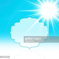 Beautiful Sea View and Beach With Sunshine Design stock vectors.