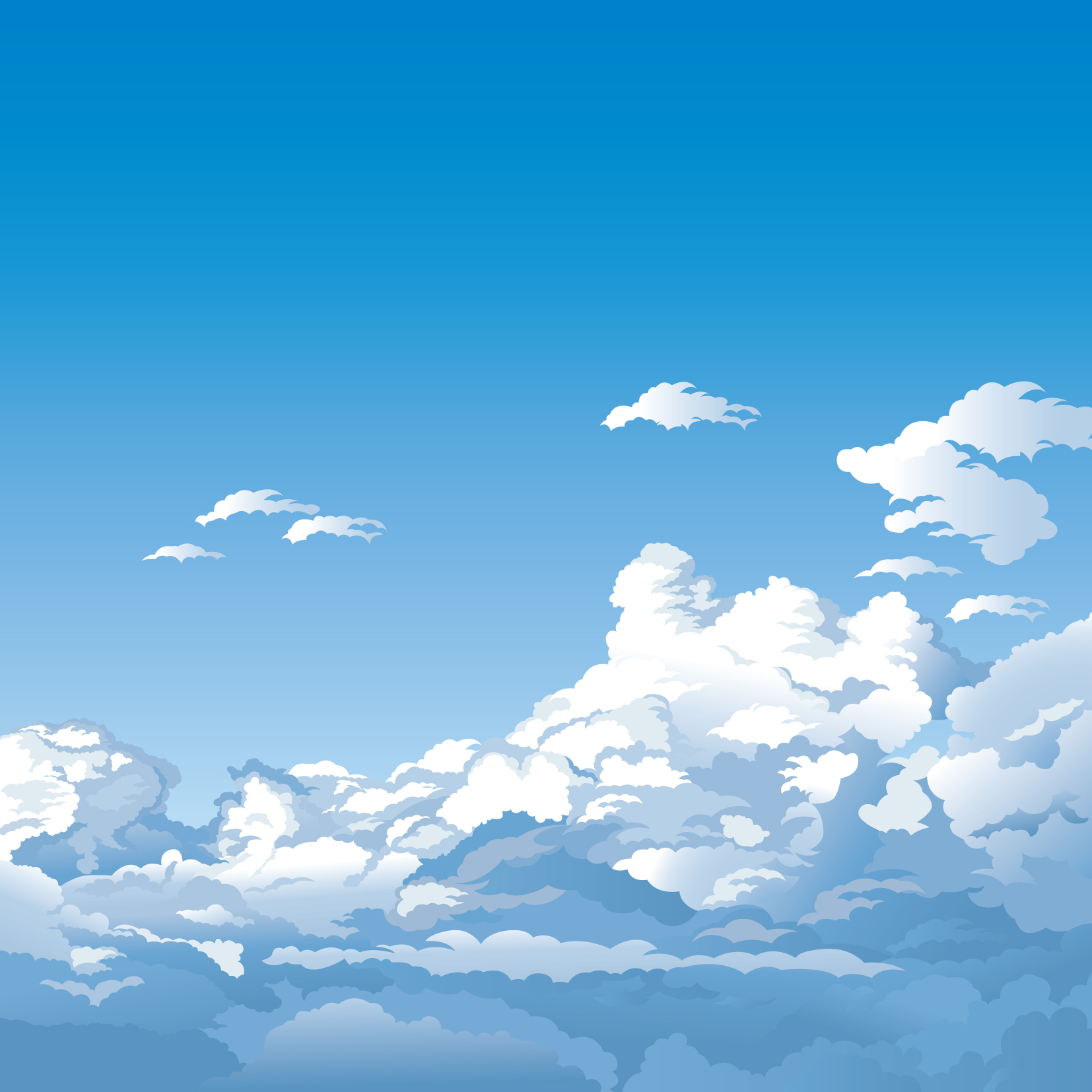 5 beautiful sky theme vector Free Vector / 4Vector.