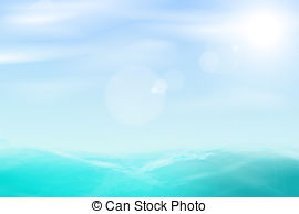 Sea and sky clipart.