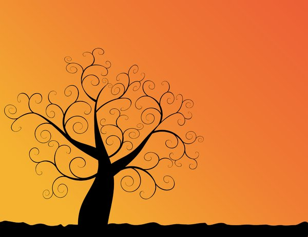 Sunset background clipart.