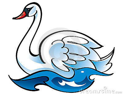 beautiful swans clipart clipground