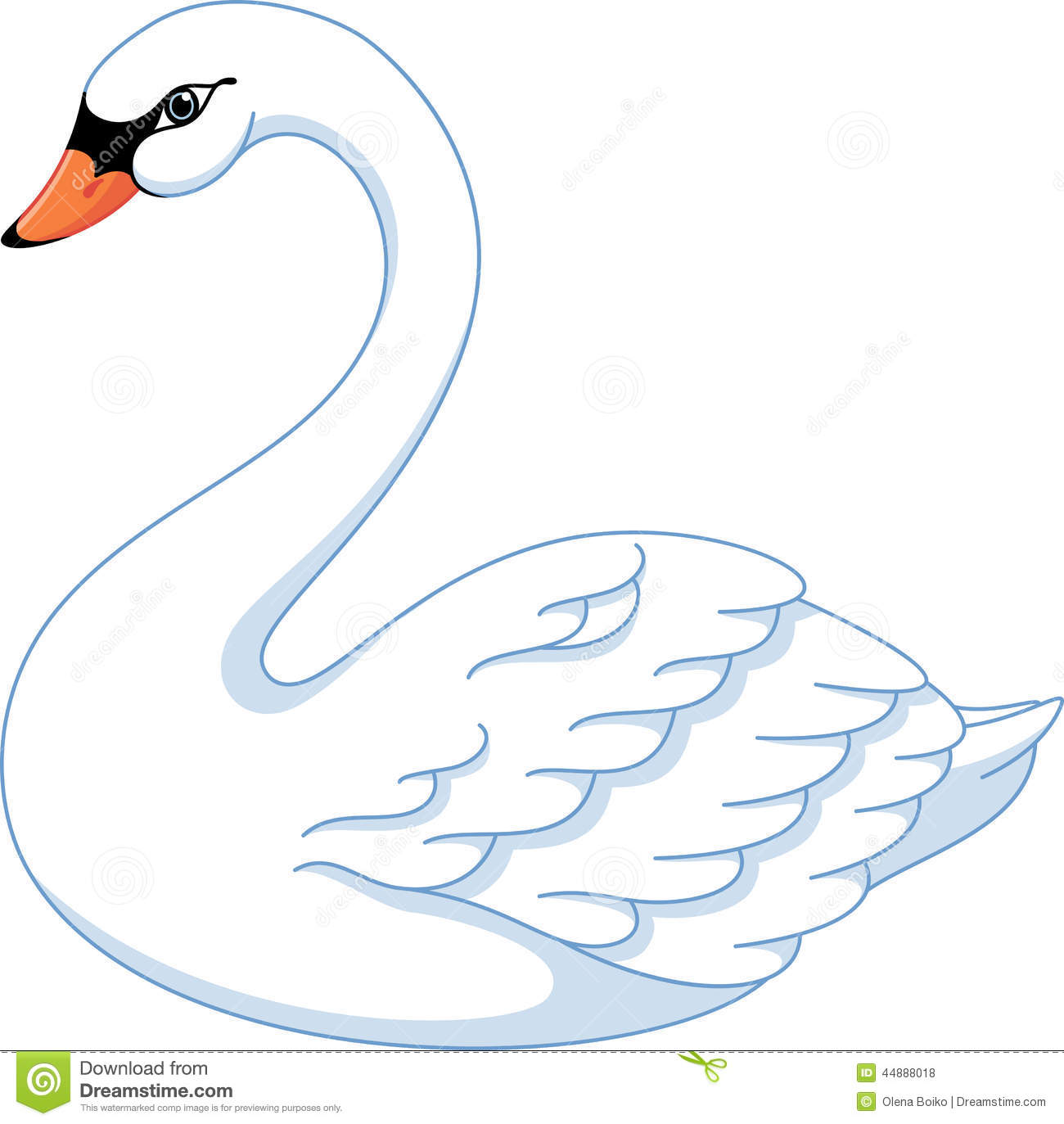 white swan clipart clipground
