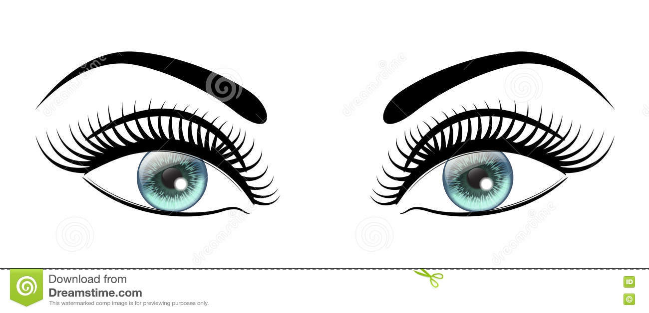 Beautiful Open Blue Eyes With Long Black Lashes The Distinctive.