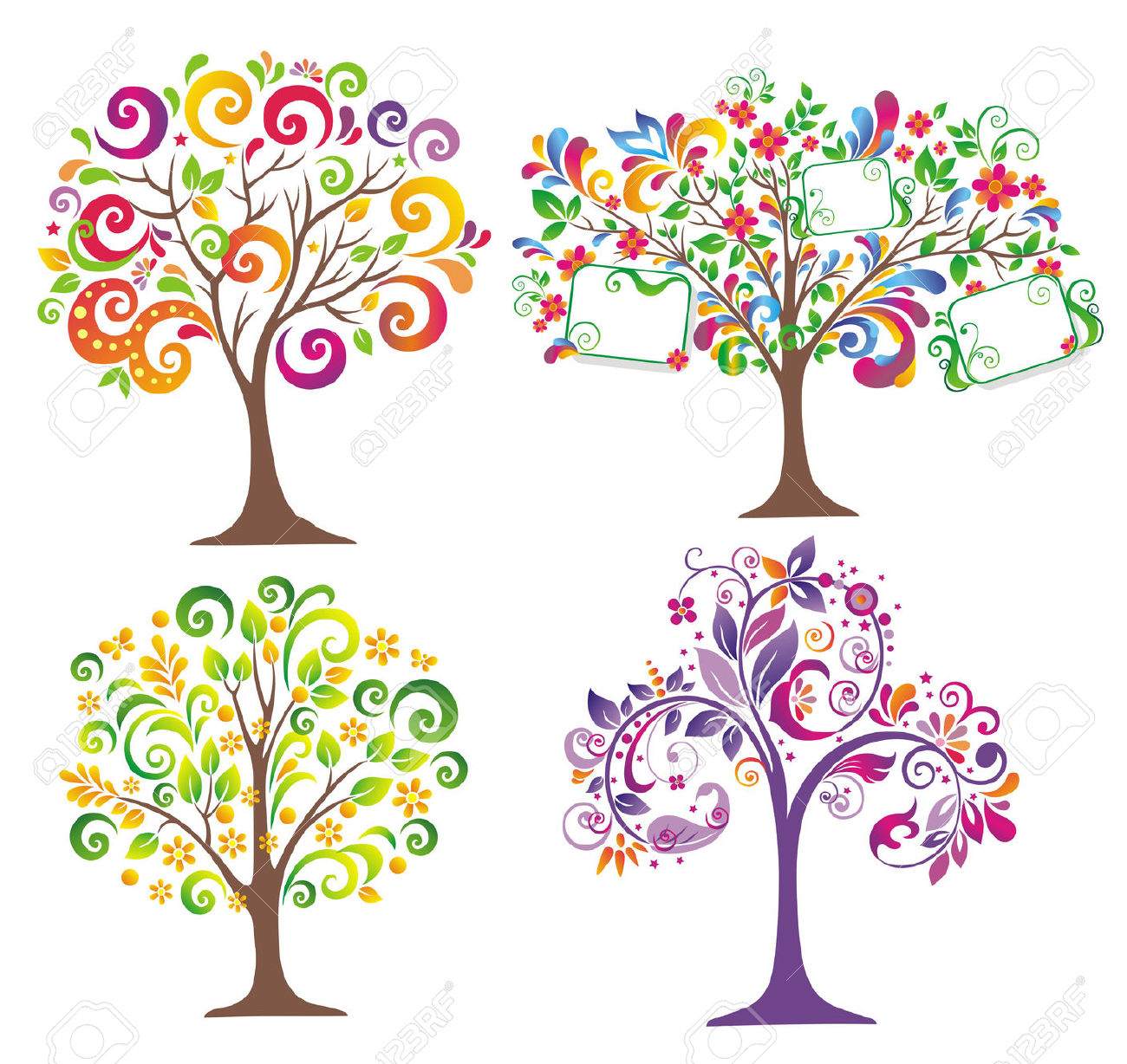 Beautiful trees clipart - Clipground