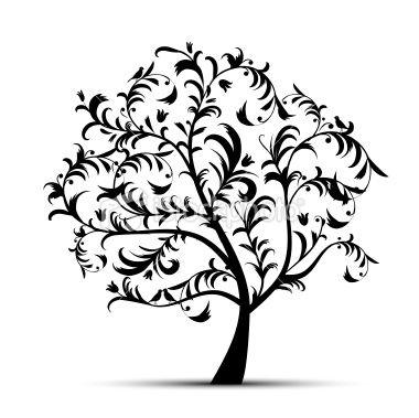 Tree clipart bare beautiful.