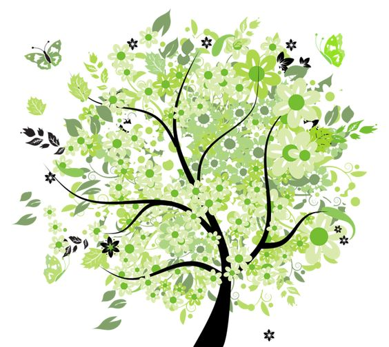 Green Spring Tree PNG Clipart Picture.