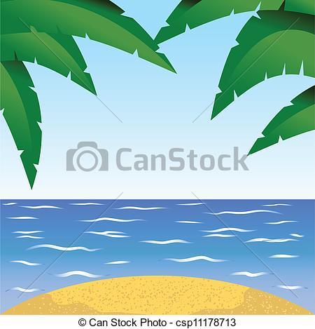Vector Clip Art of seaside.