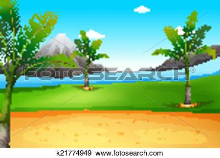 Clip Art of A beautiful view of the environment k21774949.