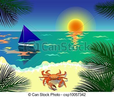 Beautiful beach pictures clipart.