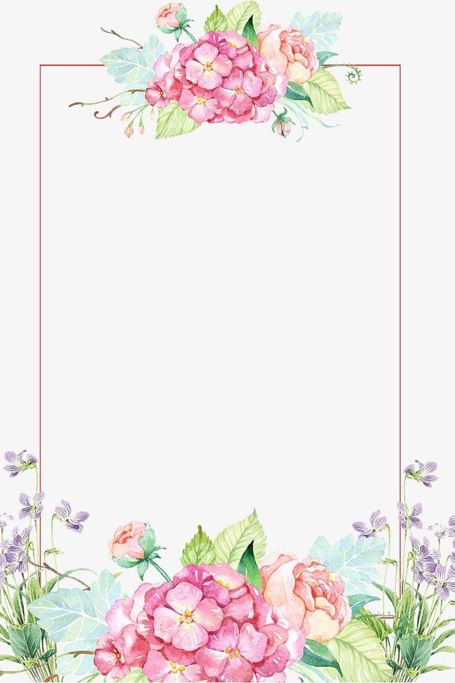 Beautiful Flower Borders, Flower Borders, Painted Flowers.