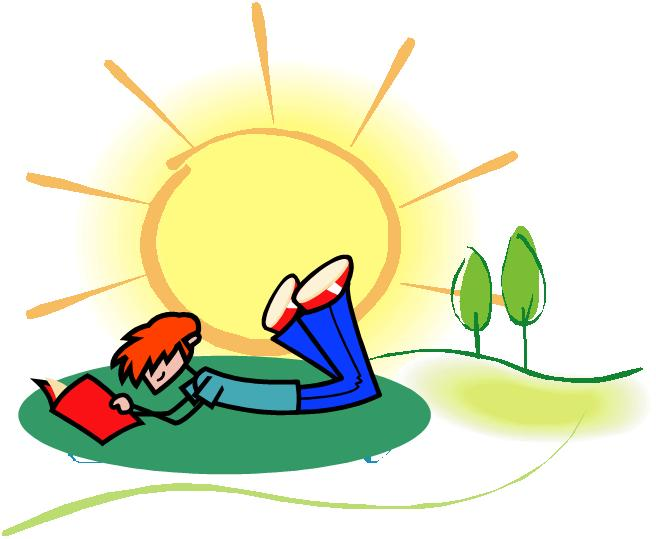 Kids in beautiful weather clipart.