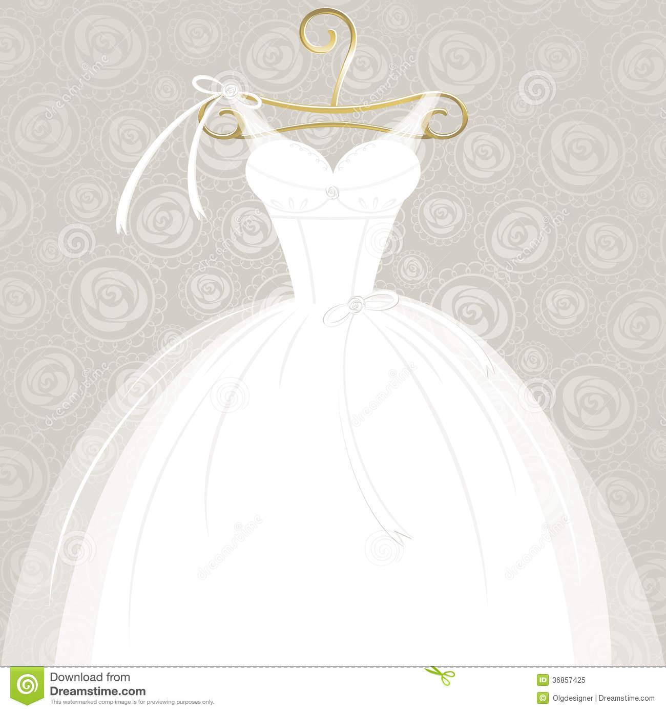 White Wedding Gown Royalty Free Stock Photo.
