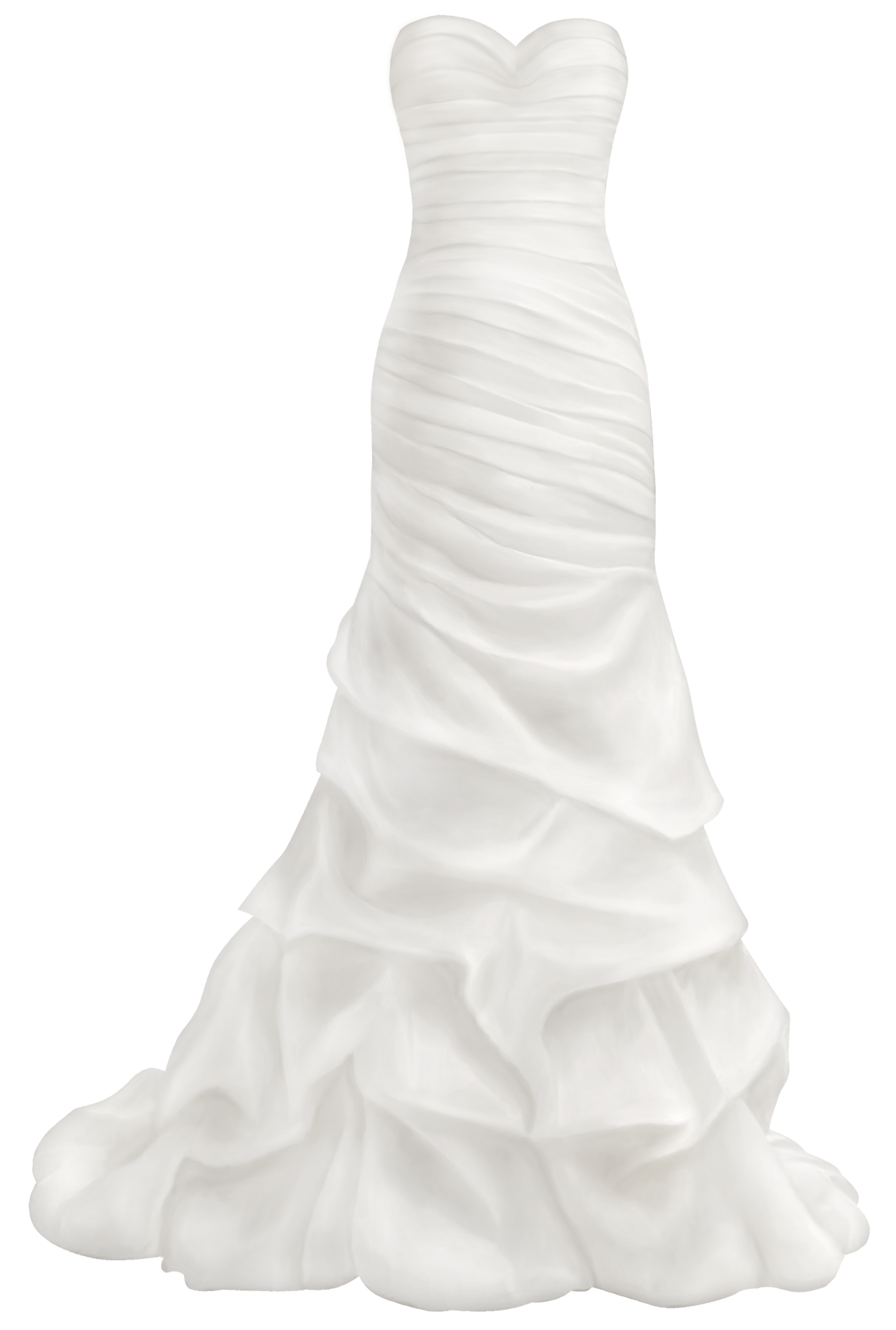 Beautiful Wedding Dress PNG Clip Art.
