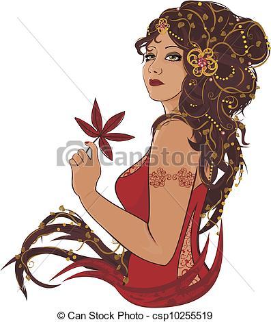Beautiful Lady Clipart.