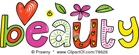 Beautiful word clipart.