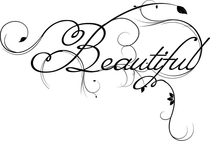 Beautiful words clipart.