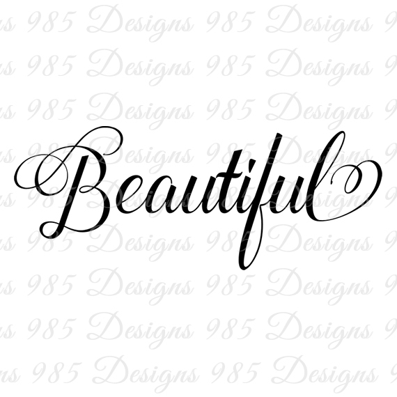 Beautiful clipart pretty word, Picture #266642 beautiful.