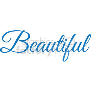 beautiful vector word clipart. Royalty.