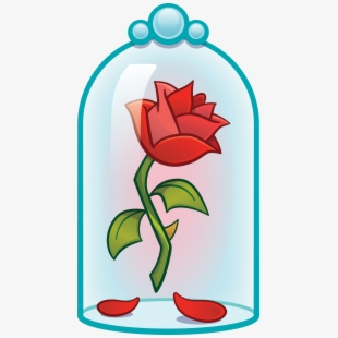 Stunning Rose Flower Clip Art Beauty And The Beast.