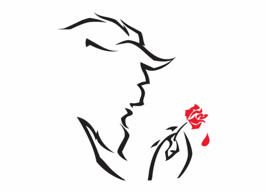 Free Beauty And The Beast Black And White Clipart, Download Free.