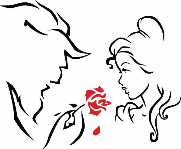 Beauty And The Beast Silhouette 87277.