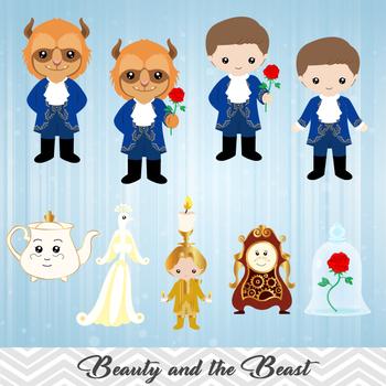 Digital beauty and the beast clip art clipart jpg.