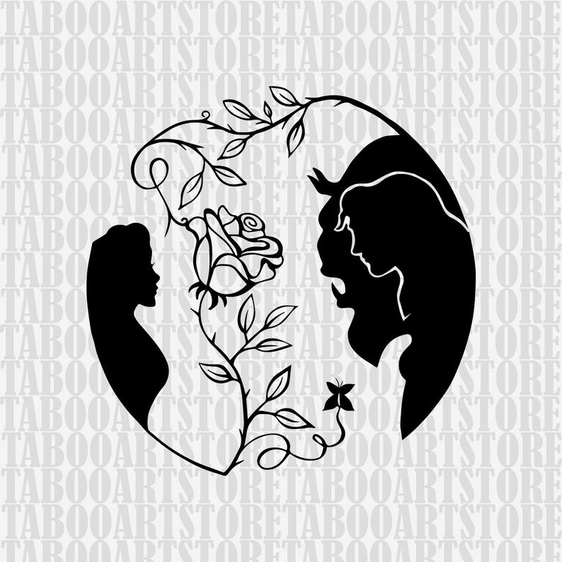 Beauty and the beast svg, beast clipart, Disney rose eps, Disney beauty and  the beast eps, beauty and the beast svg, belle beast clipart.