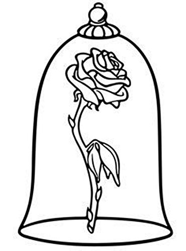 Beauty And The Beast Black And White Clipart (89+ images in.