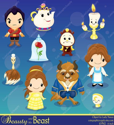 Beauty and the Beast clipart, Beauty, Princess clipart, Princess.