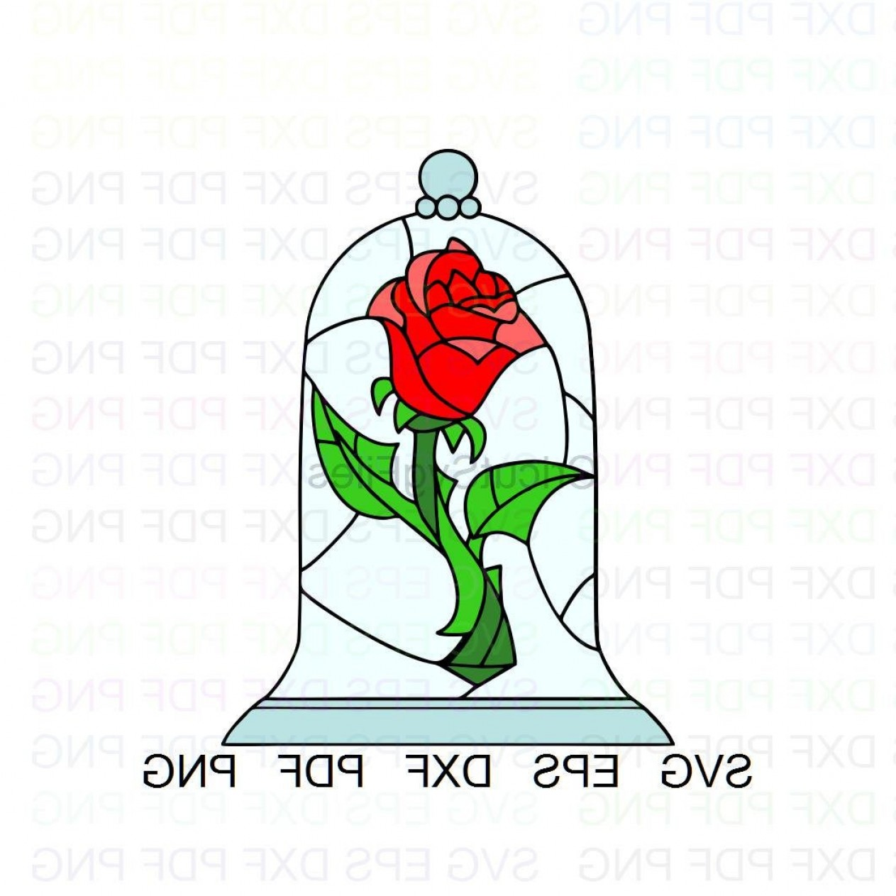 Rose Beauty And The Beast Vector Clipart.