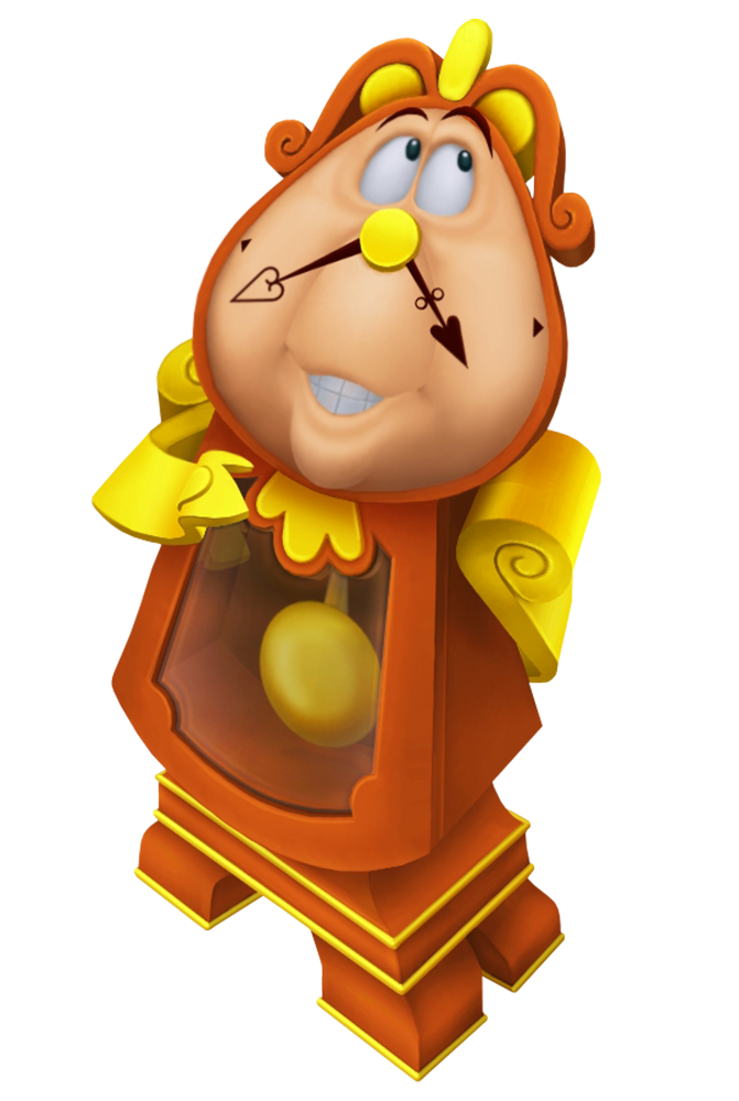 Cogsworth Beauty and the Beast Cartoon Transparent Image.