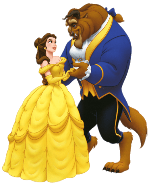 Beauty and the Beast Animation transparent PNG.
