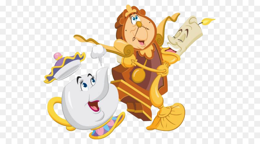 Beauty And The Beast Cartoon png download.