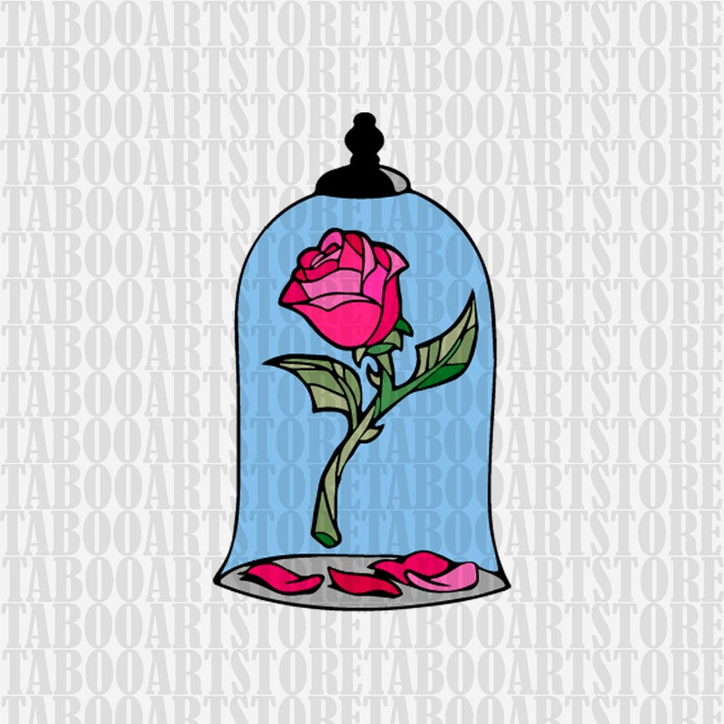 Beauty and the beast rose svg, beast clipart, Disney rose eps, Disney  beauty eps, beauty and the beast svg, belle beast clipart.