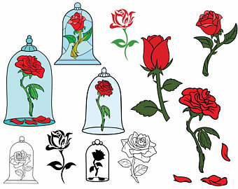 Beauty and the beast rose svg.