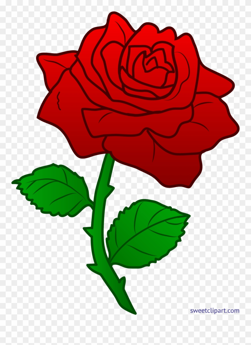 Rose Red 3 Clip Art.