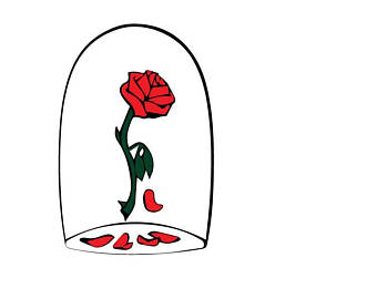 Beauty And The Beast Rose Clipart.