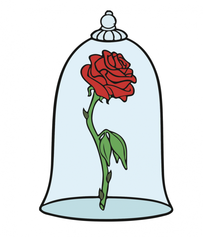Beauty And The Beast Rose Png Vector, Clipart, PSD.
