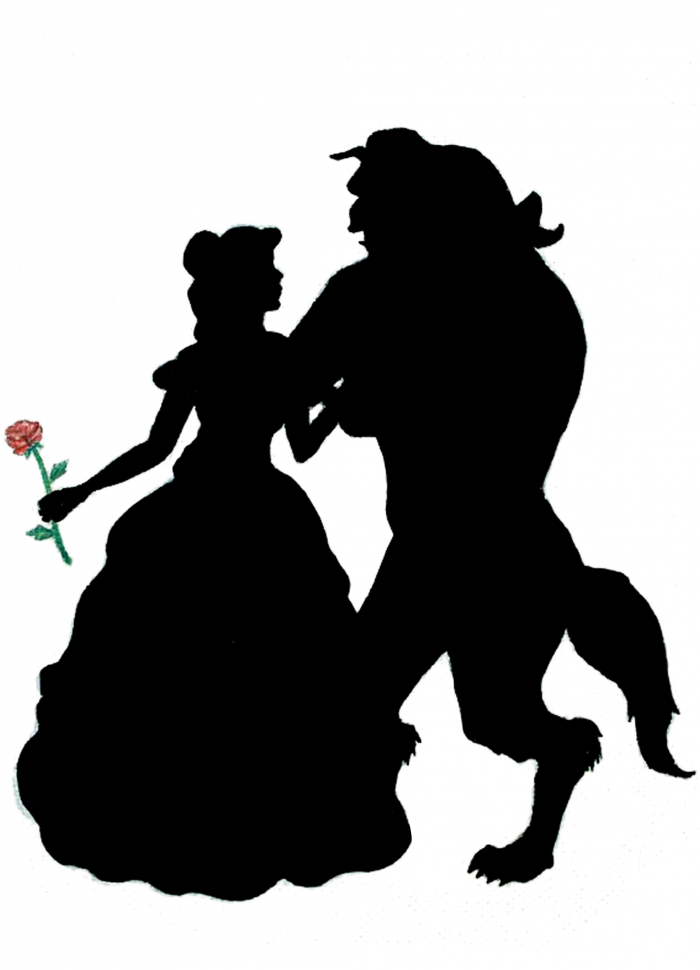 Beauty And The Beast Silhouette Png Vector, Clipart, PSD.