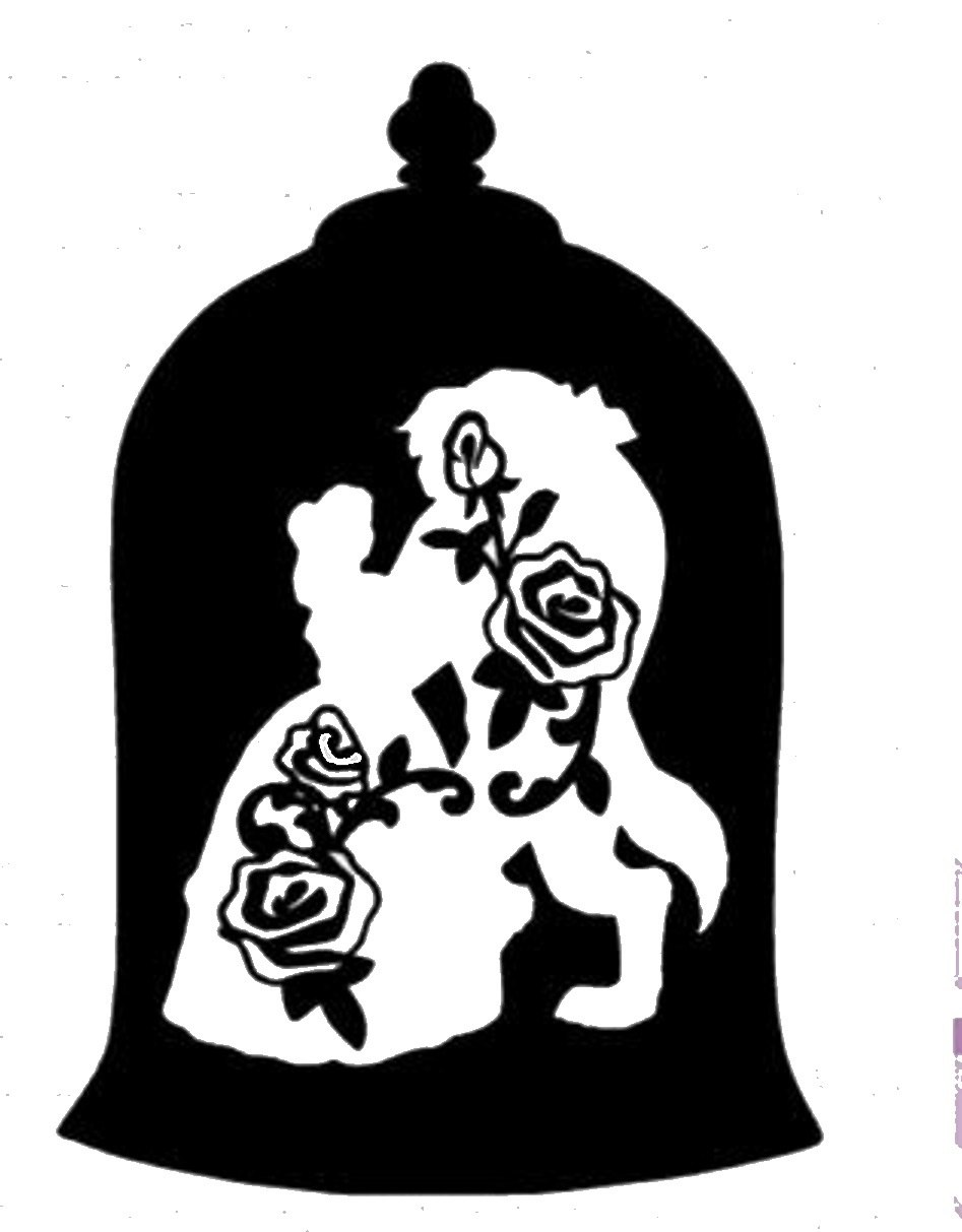 Beauty And The Beast Silhouette Png (+).